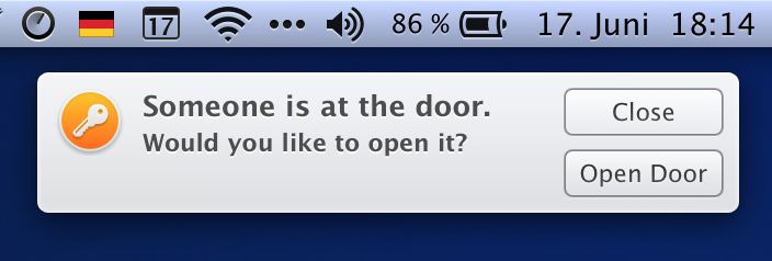 DOAR notification on OS X