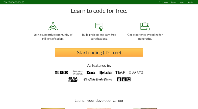 Free Code Camp Website