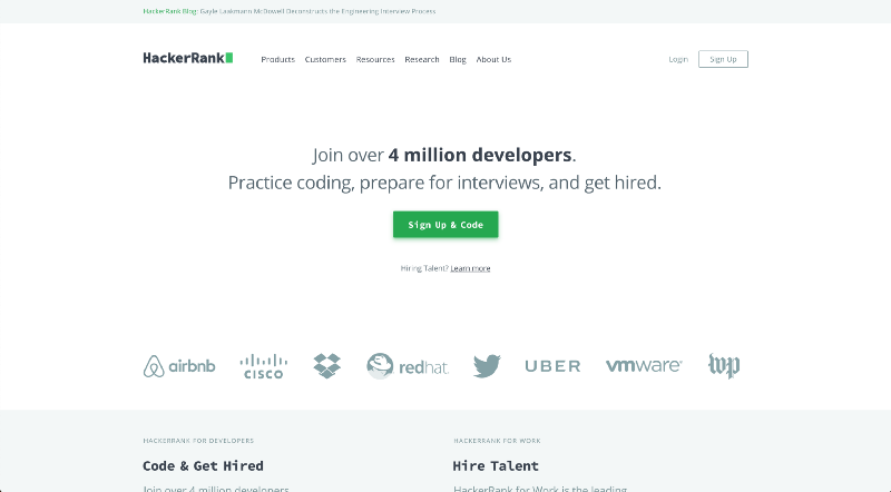 HackerRank Website